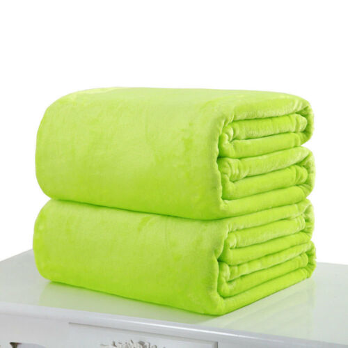 Soft Flannel Warm Solid Warm Micro Plush Fleece Blanket Throw Rug Sofa Bedding