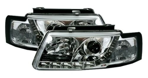 SCHEINWERFER LED TAGFAHRLICHT VW PASSAT 3B CHROM NEU