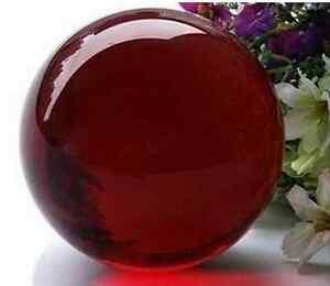 Asian-Rare-Quartz-Dark-Red-Magic-Crystal-Healing-Ball-Sphere-40mm-Stand-ZKY5