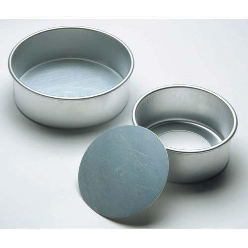 "Aluminum Cake Pan 6/""Diam.x3/""H"
