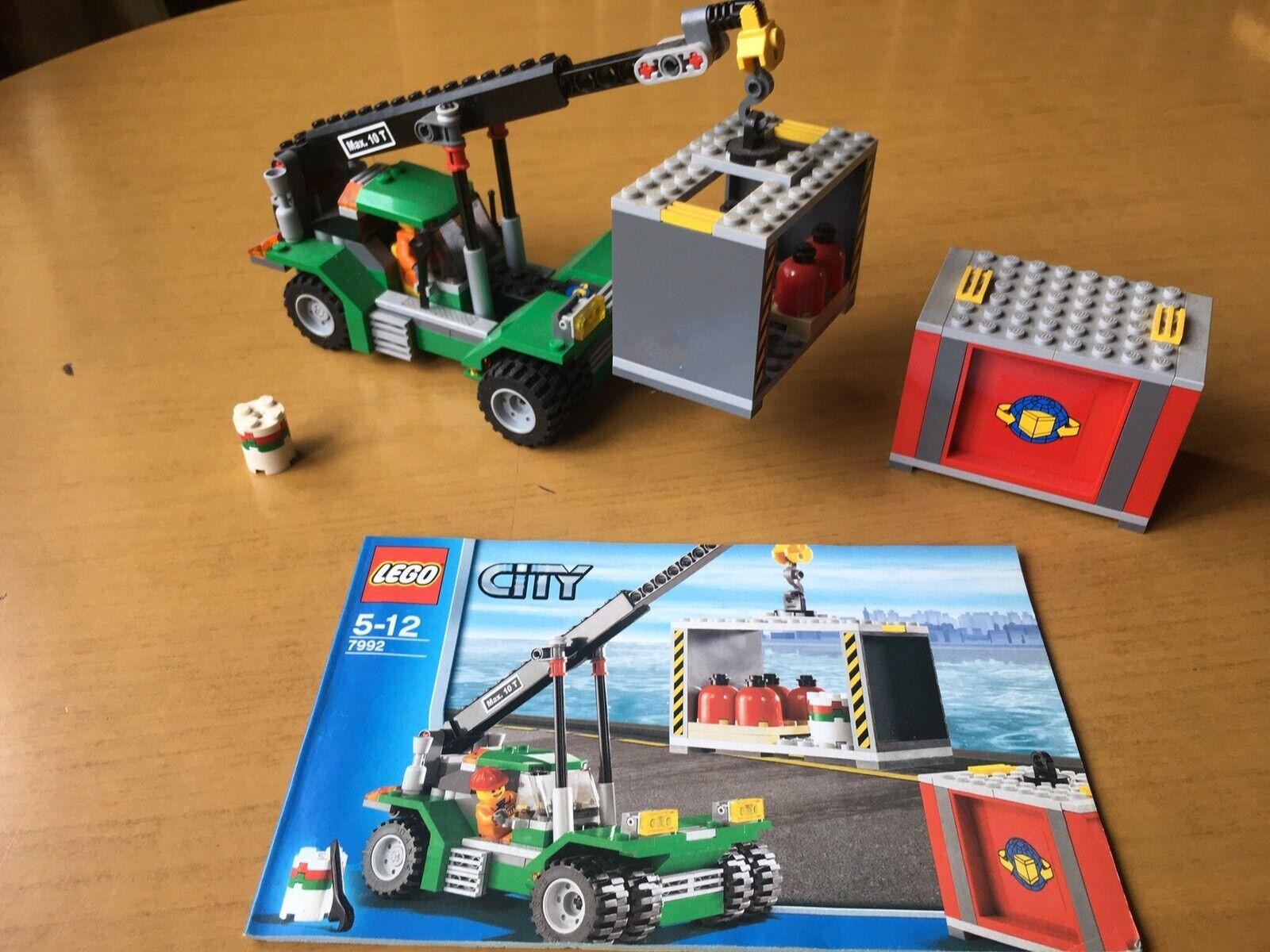 barato y de alta calidad Lego City City City (7992) Container Stacker  Teleporter. Excellent Condition.  gran descuento