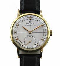 Vintage 1947  Solid 18k Gold Omega Chronometer Men's  Dress Super Rare Watch