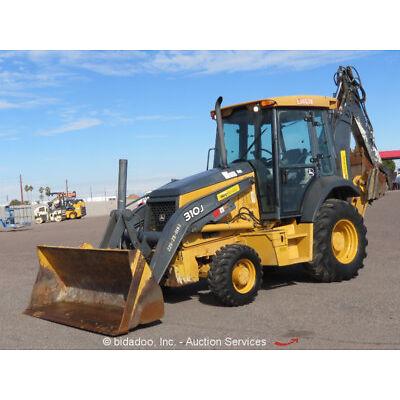2011 John Deere 310J 4x4 Backhoe Wheel Loader A/C Cab E-Stick Aux Hyd Tractor