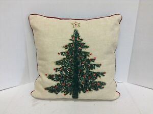 Surprising Details About Domain Beaded Holiday Decorated Christmas Tree Bed Sofa Chair Throw Pillow Caraccident5 Cool Chair Designs And Ideas Caraccident5Info