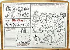 PUZZLES PLACEMAT EXCELLENT CONDITION RARE ORIGINAL 1978 PIZZA HUT TASTE OUR WAY