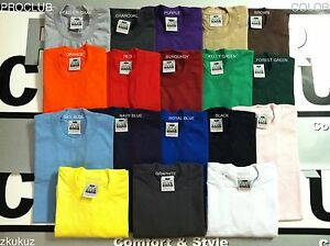 6 shirt Blanco st T gewicht Club Kleur Proclub Plain Nieuw shirt 6 Pro T zwaar groot voor OkiuZPXT