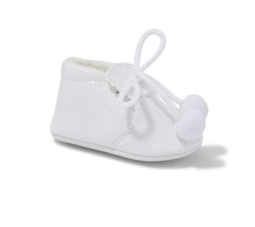 Sevva Spanish Designer Baby Boys Girls Pom Pom Booties White Pink Blue Navy