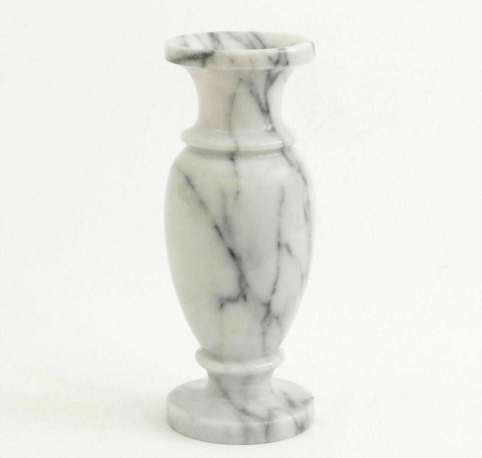 VASO Portafiori in Marmo Bianco blanco Marble Italian Flowers Vase Home H.33cm