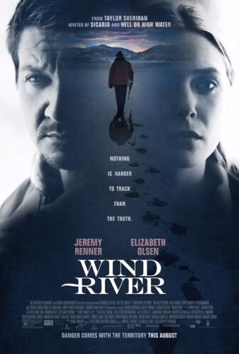 WIND RIVER POSTER A4 A3 A2 A1 FILM CINEMA MOVIE LARGE FORMAT #1