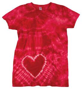Tie-Dye-Women-039-s-Basic-Double-Needle-100-Cotton-Short-Sleeve-T-Shirt-150HT