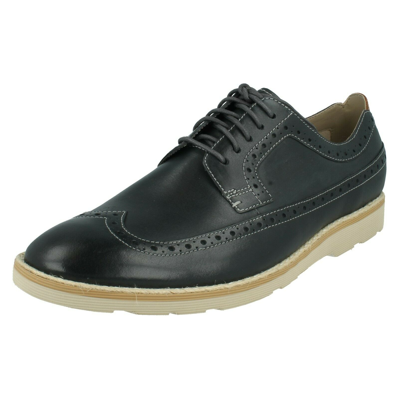 MENS CLARKS LEATHER LIGHTWEIGHT LACE UP CASUAL BROGUES SHOES GAMBESON LIMIT