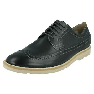 Details about MENS CLARKS LEATHER LIGHTWEIGHT LACE UP CASUAL BROGUES SHOES GAMBESON LIMIT