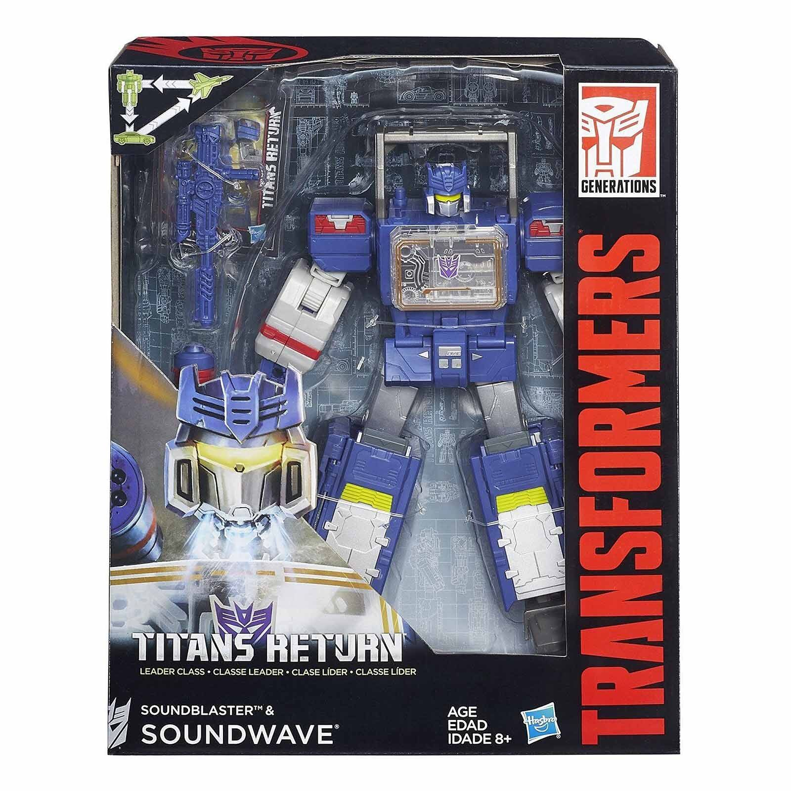 NEW Transformers Generations Titans Return Leader Class SOUNDWAVE Soundblaster