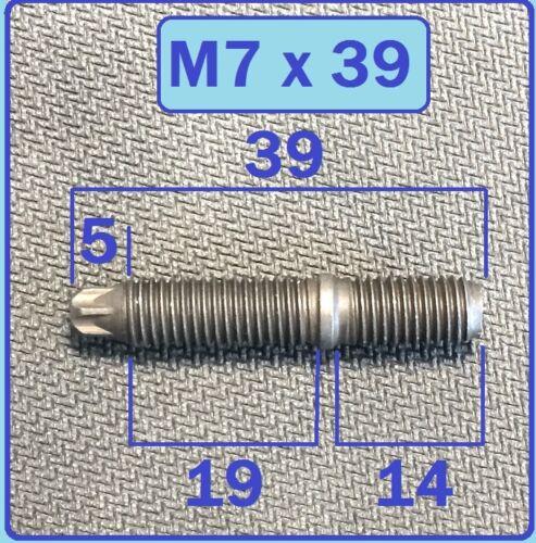 für BMW Zylinderkopf Kupfermutter M7 24 Stück Stehbolzen M7x39