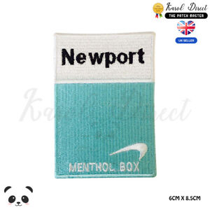 Newport-Menthol-Box-Embroidered-Iron-On-Sew-On-Patch-Badge-For-Clothes-Bags-Etc