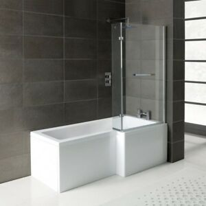 Reversible Side Panel for Left or Right Hand L Shaped Shower Bath 1700mm