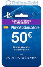 PlayStation PSN Tarjeta Prepago 50€ - 50 Euro Sony PS3 PS4 PS Vita Código - ES