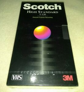 Scotch T-120 High Standard Blank VHS Tapes 6 Hour EP  Lot of 2