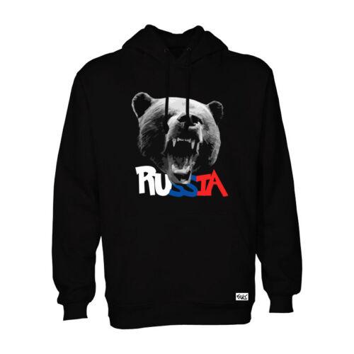 "Eaks ® Hoody /""RUSSIAN BEAR/"" Noir Capuche Pull Russie-Ours Russia"