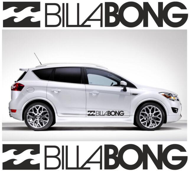 2 x BILLABONG LOGO car stickers decals Reflective Vinyl Best Present 58x9cmx2