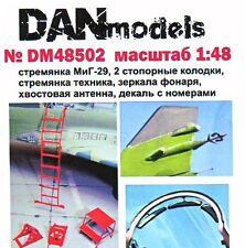 "DANmodels #48502, 1/48 ""MiG-29 ladder, pads, mirrors, antenna"""
