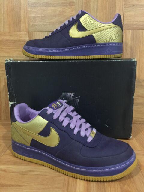 RARE🔥 Nike Air Force 1 Supreme 07 Wilkes Quasar Prpl Gold Orchid 8.5 315088-571