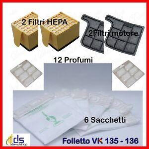 30 sacchetti filtro motore 30 profumi per vorwerk folletto vk 140 kit ricambio