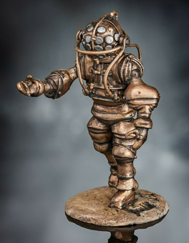 Toy Soldiers Painted Atmospheric diving suit 1 32 Miniature Metal Figures 54mm