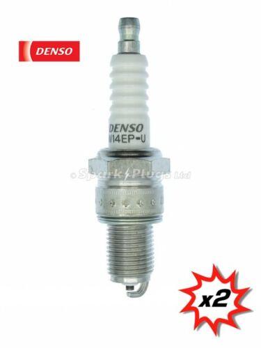 Fast Despatch Set Of 2 Plugs 2x Denso W14EP-U Spark Plug 6010