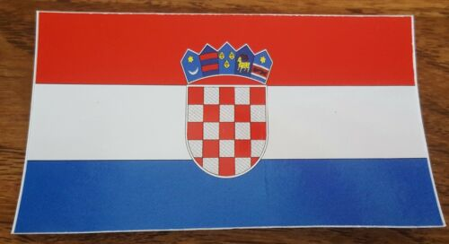 BRAND NEW BEST QUALITY CROATIA FLAG VINYL BUMPER STICKER ADHESIVE DECAL GRAPHIC
