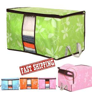 Foldable-Storage-Bag-Clothes-Blanket-Quilt-Closet-Sweater-Organizer-Box-Pouch-GN