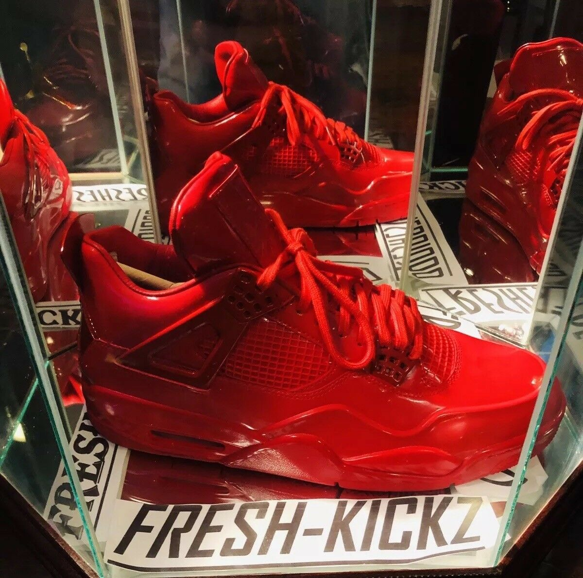Rare Nike AIR JORDAN 11Lab4 Retro 11 Lab 4 Red