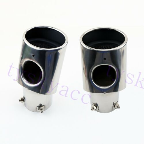 Stainless Steel Muffler Exhaust End Pipe Tip Trim For Range Rover Sport CR-V CRV