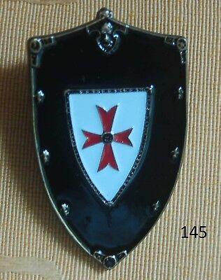 Kreuzritter Kreuzzüge Ritterorden Kreuz Rot Schild Groß Pin Anstecker # 145 Top Harmonische Farben