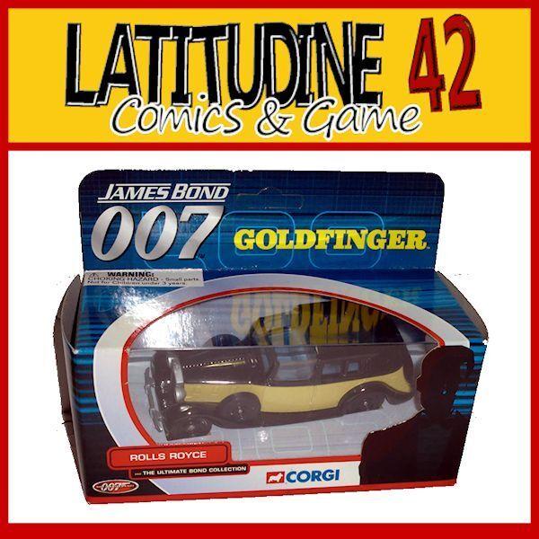 CORGI 007 JAMES BOND CAR REPLICA GOLDFINGER ROLLS ROYCE DIE CAST