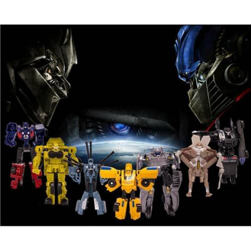9pcs set Transformers Toys Action Figures Optimus Prime Robots Car Megatron Kids