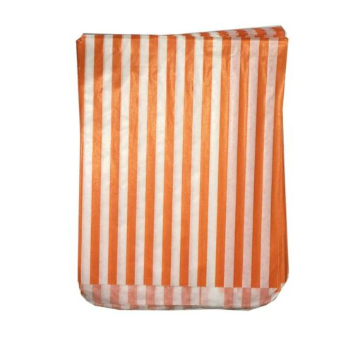 """100 Pick /'n/' Mix  Color /& White Candy Stripe Paper Sweet Bags Wedding 5/"""" X 7/"""""""