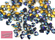 RARE 10x Swarovski Crystal Heart Stones Bermuda Blue 4884 Foiled 5.5mm IMPERFECT