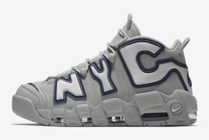 Nike Air More Uptempo QS NYC / AJ3137-001 / Men's Yankee New York City Grey Navy