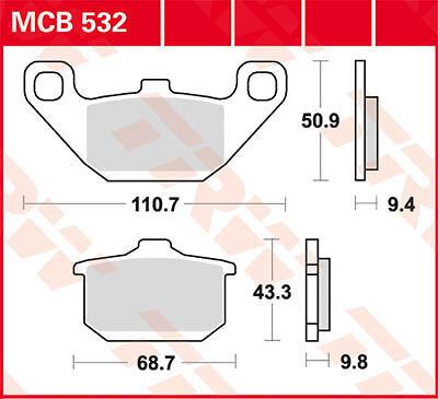 Plaquettes de frein Arrire TRW Lucas MCB532 Kawasaki GTR 1000 ...