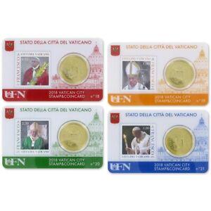 Coincard-2018-Vaticaan-Vaticano-City-Stamp-amp-Coin-card-No18-No21-50-cents