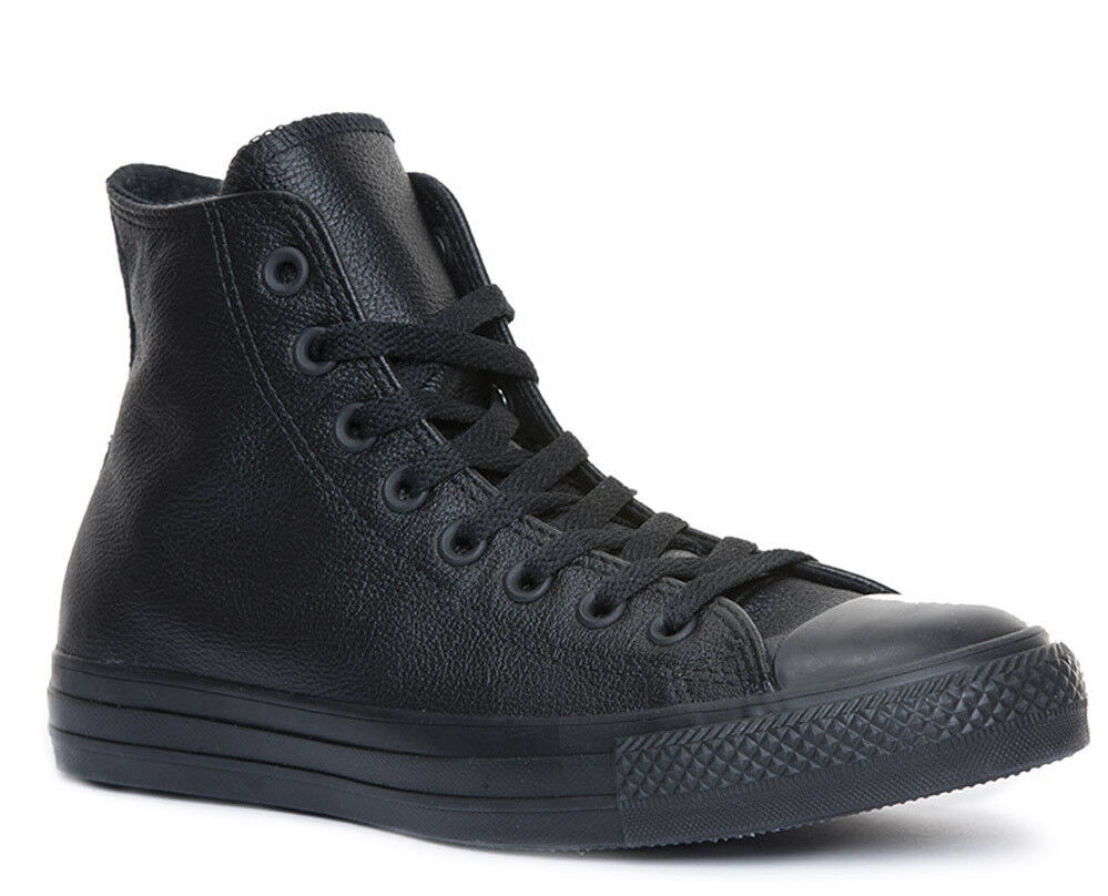 Converse Chuck Taylor All Star Unisex Black Leather Trainers
