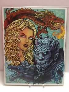Game-of-Thrones-Fire-amp-Ice-Fan-8x10-Bam-Box-Exclusive-Art-Print-by-Brian-Allen