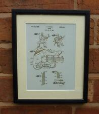 USA Patent Drawing  FENDER STRATOCASTER GUITAR MOUNTED PRINT 1960 Xmas Gift