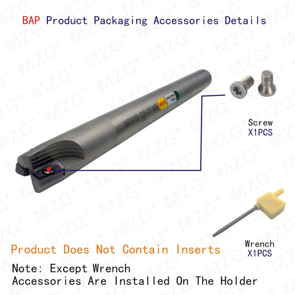 MZG BAP300RC16-17-120-2T CNC Cutting Shoulder Right Angle Locking Milling