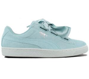 Details zu Puma Suede Heart Pebble Damen Sneaker Schuhe Leder Türkis 365210 03 Turnschuhe