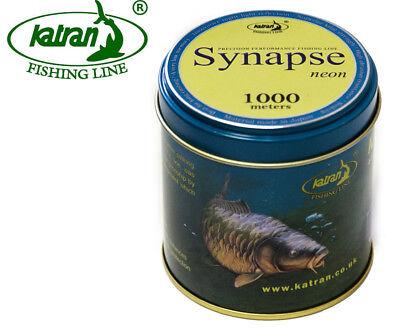 Katran Fishing Line Synapse NEON Carp ALL Diameters Low Memory 1000m Needle