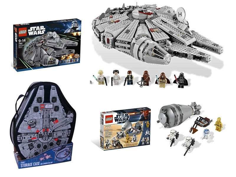 LEGO Star Wars 7965 Millennium Falcon + 9490 Droid Escape + FREE Carrying Case