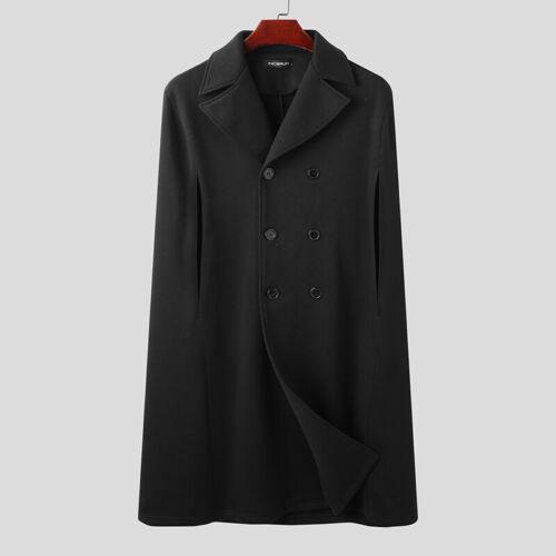 Mens Fleece Warm Poncho Cape Jacket Loose Baggy Formal Party Cloak Coats Outwear