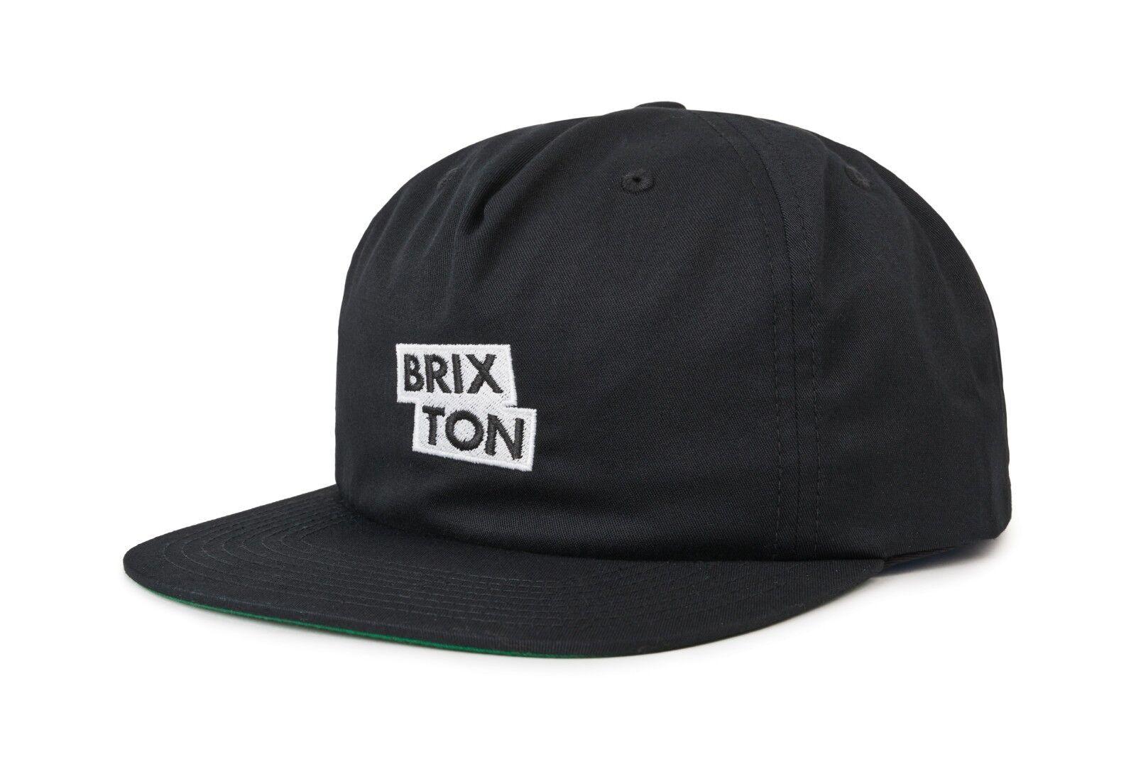 NWT Brixton Men's Mens Team Snapback Cap HAT OSFM Men's Brixton Adjustable Black BX97 156980